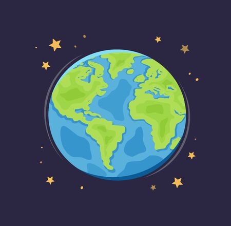 World planet Earth in space. Illustration