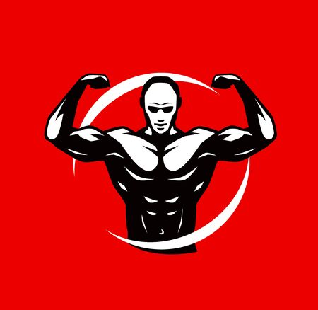 Gym club logo or label. Standard-Bild - 129090996