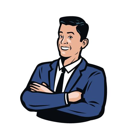 Successful businessman in a business suit. Banque d'images - 129091617