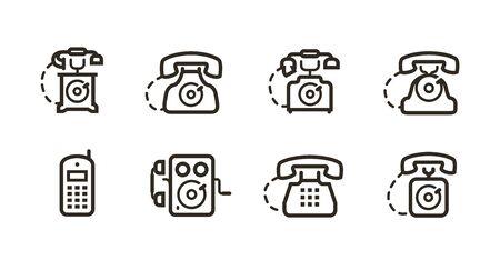 Phone icon set. Telephone call symbol.