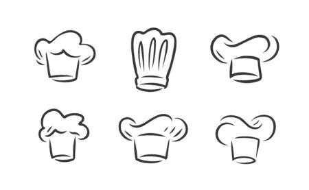Cook hat logo. Cookery, restaurant symbol.
