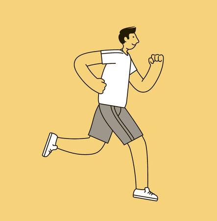 Jogging man. Sport, fitness concept.