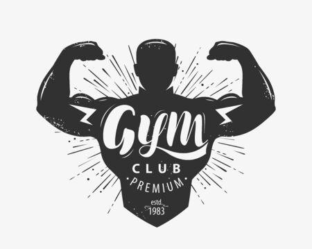 Gym club emblem on white