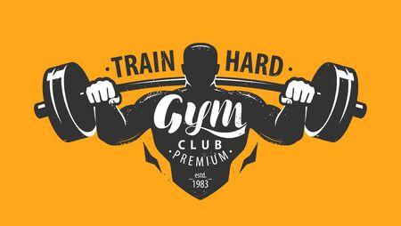 Gym club emblem. Bodybuilding, sport concept. Stock Vector - 132919026