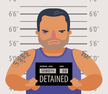Criminel dangereux détenu. Vecteurs