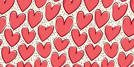 Hearts, seamless vector illustration