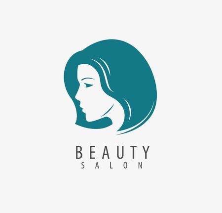 Beauty salon symbol on white