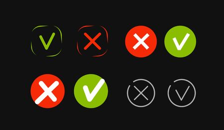 Check mark icon set vector. Elements for website or mobile app Vektorgrafik