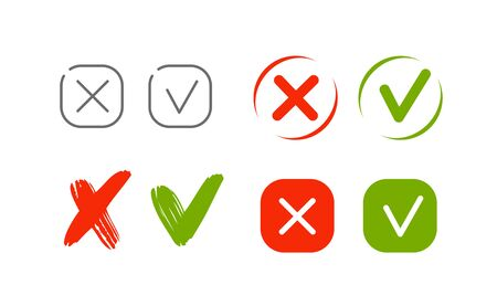 Check mark icon set vector. Elements for website or mobile app