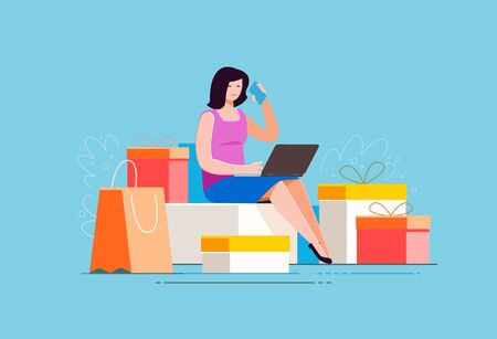 Purchase of goods using online store.