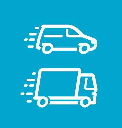 Delivery icon. Freight transportation, moving logo or symbol. Vector illustration Stock Illustratie