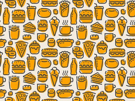 Fast food seamless pattern.