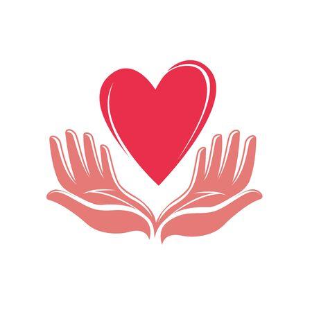 Heart in hand logo.