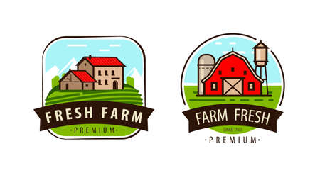 Farm fresh logo or label. Agriculture, farming vector
