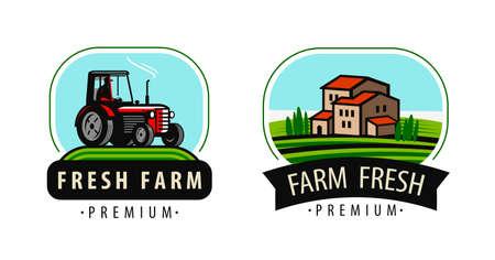 Agriculture, farming, food concept vector Vettoriali