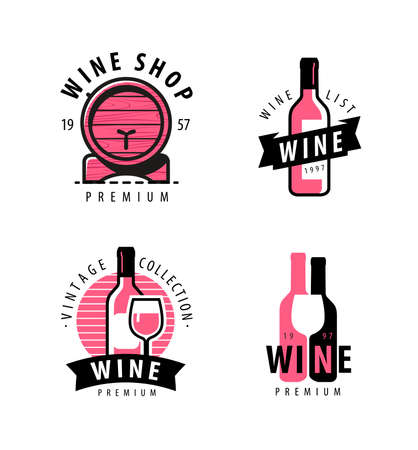 Wine symbol or label. Winery, restaurant, drink concept