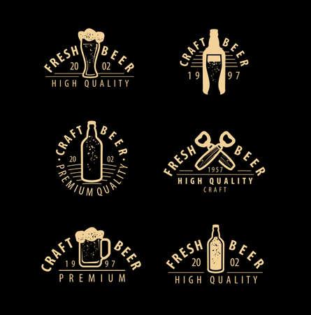 Beer emblem or symbol. Pub, brewery, drink concept
