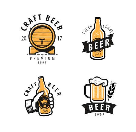 Beer symbol or logo. Pub, restaurant, drink concept