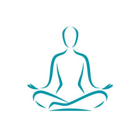 Yoga logo. Meditation, spa, beauty symbol