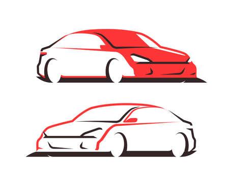 Car vector logo. Transport, automobile symbol