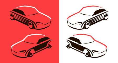 Racing car logo. Transport, vehicle symbol vector Illustration