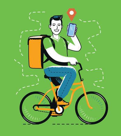 Bike riding. Cycling, travel concept vector illustration 일러스트