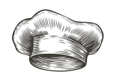 Chef hat sketch. Cooking vintage vector illustration 矢量图像