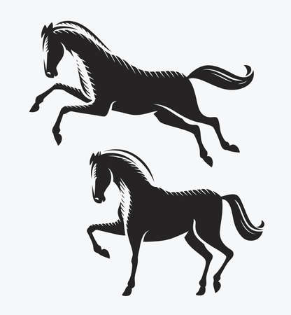 Horse symbol. Animal, racehorse vector illustration