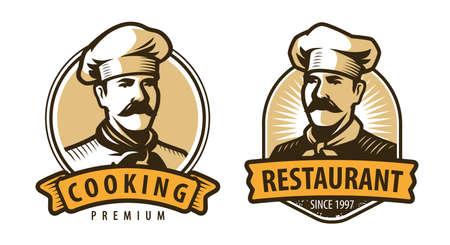 Restaurant emblem. Cooking, food concept vector illustration