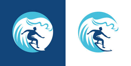 Surfing emblem. Surf symbol vector illustration
