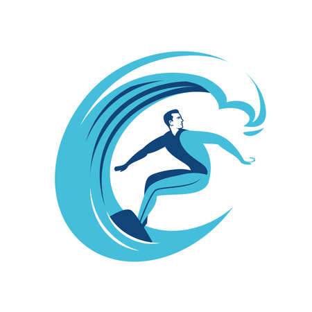 Surfing symbol. Surf emblem vector illustration 向量圖像