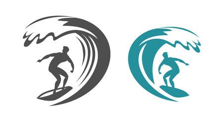 Surfing symbol. Surf emblem vector