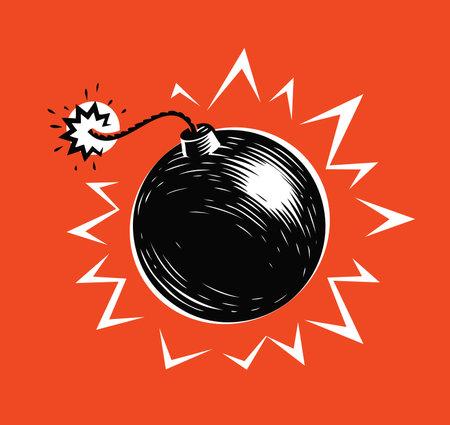 Bomb blast. Explosion, explode symbol vector illustration