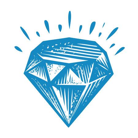Diamond shining. jewel, treasure symbol vector illustration
