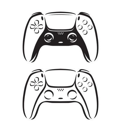 Game controller symbol. Video gamepad logo vector