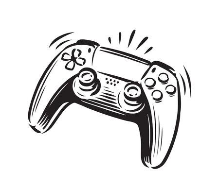 Game controller symbol. Joystick vector illustration 向量圖像