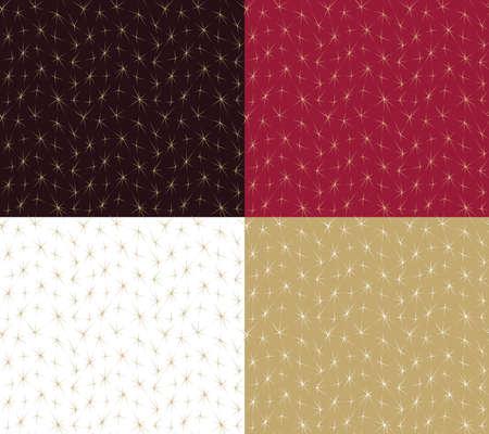 Festive background seamless set. Decorative pattern vector illustration Vettoriali