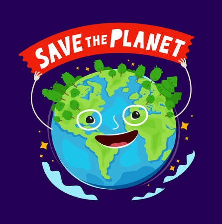 Save the planet. Environmental protection, ecology concept vector
