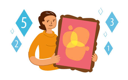 Making of digital crypto art. NFT Non fungible token concept in flat style