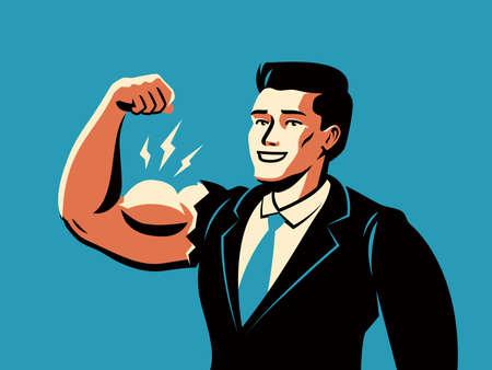 Successful businessman. Business success, achievement concept vector illustration Vettoriali