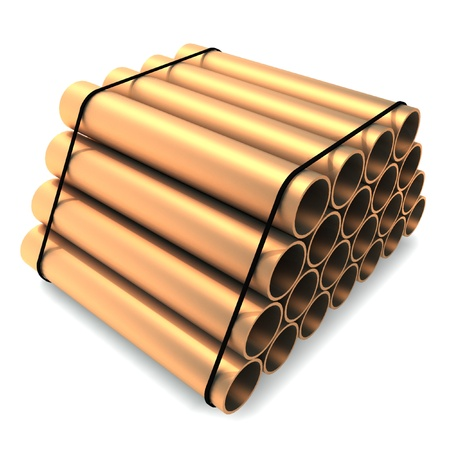 Packing of metal pipes
