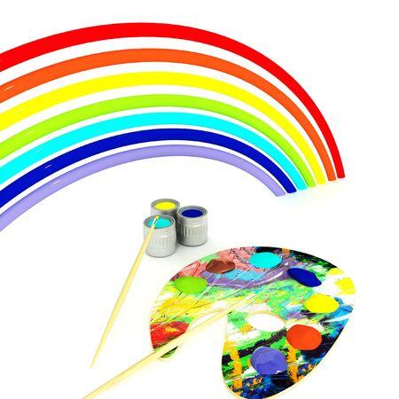 rainbow palette of colors