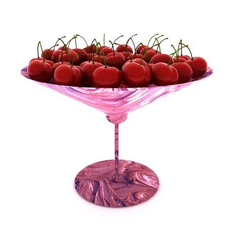 cherries in the glass photo