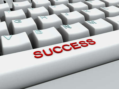 success in the work Stock Photo