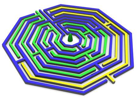 man-made labyrinth Stock Photo
