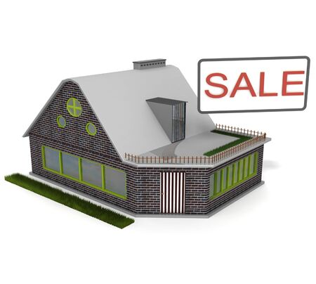 sale of housing and holiday homes Stock Photo