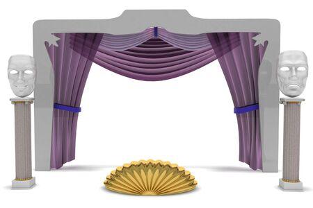 attributes: attributes of a theatrical scene Stock Photo