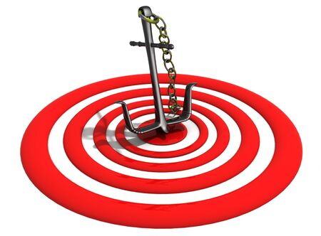 right on target Stock Photo