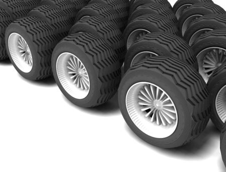 rolling wheels Stock Photo