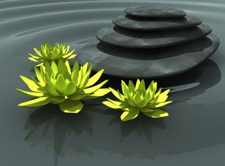 secret nature of Zen Stock Photo